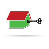 Key unlocks the house color vector Stock Photography