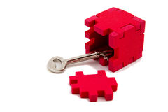Key unlocks puzzle Royalty Free Stock Photos