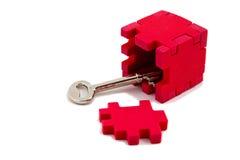 Key unlocks puzzle Royalty Free Stock Photos