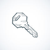 Key. Vector Drawing Royalty Free Stock Images