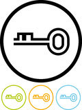 Key - Vector icon isolated on white Royalty Free Stock Photos