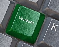 Key for vendors. Keyboard with key for vendors Royalty Free Stock Photography