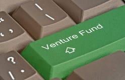 Key for venture fund. Hot key for venture fund Stock Photo
