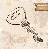 Key on vintage background hand drawn Stock Images