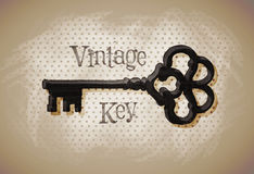 Key vintage. sketch. vector illustration Stock Photo
