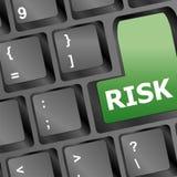 Key visande affärsidé för riskadministration Arkivfoton