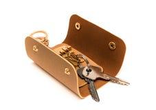 Key wallet isolated. On white background Stock Photos