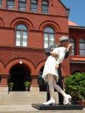 Key West żeglarza całowania pielęgniarki statua zdjęcie royalty free