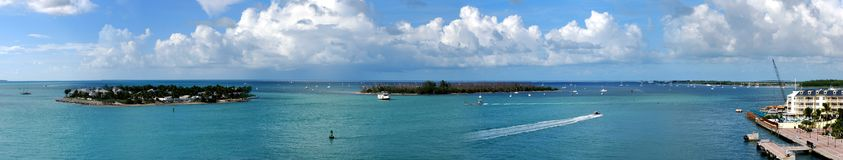 Key West. The panoramic view of Conch Republic - the southernmost U.S. town-island of Key West and other small islands (Florida royalty free stock photos