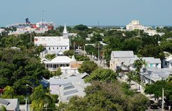 Key West. The view of Key West town as seen from the lighthouse (Florida stock photo