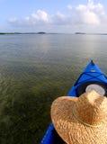 划皮船的Key West 库存照片