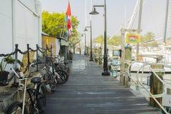 Key West abriga muelles Foto de archivo libre de regalías