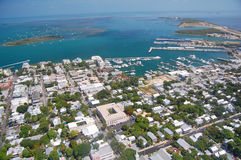Key west aerial view royalty free stock photos