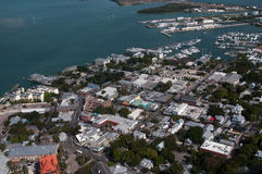 Key West Aerial. An aerial view of Key West, Florida Royalty Free Stock Photos