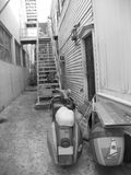 Key West Alley. Alley between two homes in Key West Florida stock image