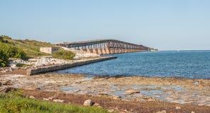 Key West - alte Brücke stockfotos