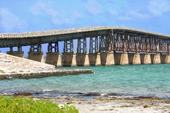 Key West Bahia Honda island bridge ( channel) Stock Photography