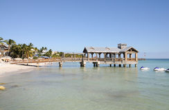 Key West beach, Florida. Pier at the beach in Key West, Florida USA Royalty Free Stock Photo