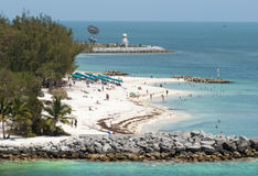 Key West Beaches. The beach of Fort Zachary Taylor Historic State Park in Key West town Florida royalty free stock photo