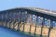Key West bridge. An bridge ruin between two Key West Islands Stock Images
