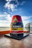 Key West Buoy la muestra fotografía de archivo libre de regalías