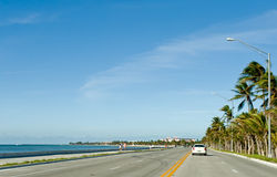 Key West coastal highway Royalty Free Stock Photo