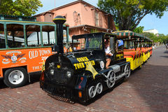 Key West Conch Tour Train, Florida Royalty Free Stock Image