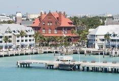 Key West de stad in stock foto