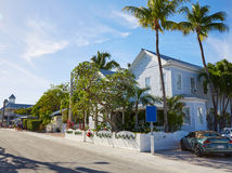 Key west downtown street houses in Florida Stock Images