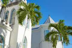 Key west downtown street houses in Florida Royalty Free Stock Photography