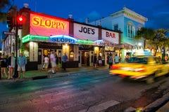 Onzorgvuldige Bar Joes in Key West Royalty-vrije Stock Afbeeldingen