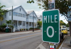 Key West Mile Marker 0 Royalty Free Stock Photography