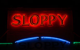 Sloppy Joes Sign Royalty Free Stock Photos