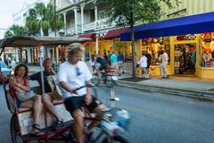 Ricksaw in Duval Street Royalty Free Stock Photography