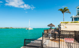 KEY WEST, FL - FEBRUARY 21, 2016: Mallory Square coastline. On a peaceful afternoon. Key West is a famous attraction in Florida Stock Images