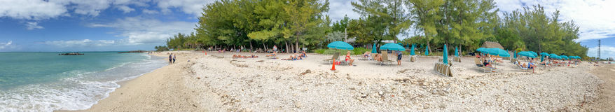 KEY WEST, FL - FEBRUARY 2016: Panoramic view of tourists in Fort Royalty Free Stock Photography