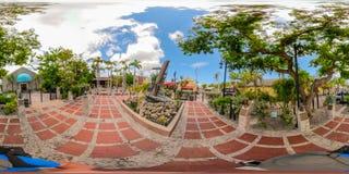 Street scene Key West Florida USA 360 vr image. KEY WEST, FL, USA - JUNE 20, 2018: VR image of Key West Florida spherical equirectangular Stock Images