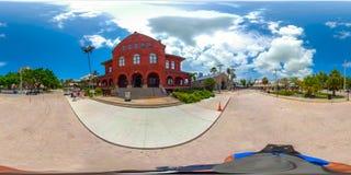 Street scene Key West Florida USA 360 vr image. KEY WEST, FL, USA - JUNE 20, 2018: VR image of Key West Florida spherical equirectangular Stock Photo