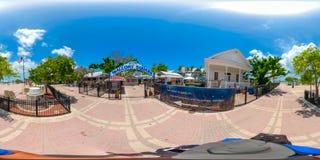 360 city tour Key West Florida. KEY WEST, FL, USA - JUNE 9, 2018: 360 vr spherical image of Key West Florida USA Stock Images