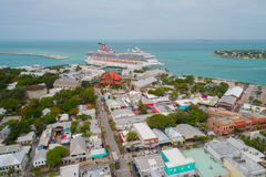 Key West Florida aerial image. Stock aerial photo of Key West Florida Royalty Free Stock Photography