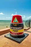 The Key West, Florida Buoy sign marking the southernmost point Stock Images