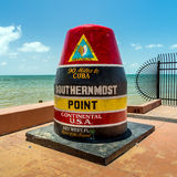 The Key West, Florida Buoy sign marking the southernmost point Royalty Free Stock Photos