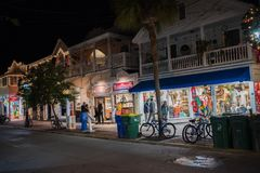 Duval Street in Key West, Florida. Royalty Free Stock Photography