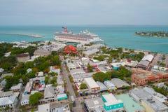 Key West Florida flyg- bild Royaltyfri Fotografi