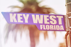 Key West Florida Street Sign Stock Images