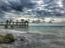 Key West Florida. Stunning view of a covered pier in Key West Florida Stock Image