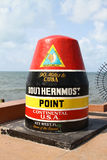 Key West, Florida, USA. Southernmost Point marker on Key West, Florida, USA stock photography