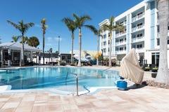 24 North Hotel Backyard pool. Key West, Florida USA - January 18, 2018: 24 North Hotel Backyard pool stock photo