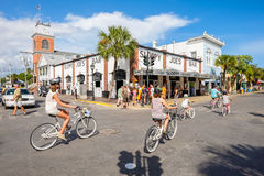 Key West. FLORIDA USA - JUNE 26, 2014: The historic and popular Sloppy Joe's Bar on Duval Street in downtown Royalty Free Stock Photo