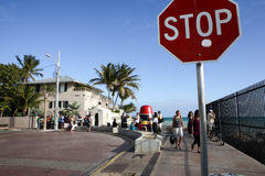 Key west, Florida USA last sSTOP Royalty Free Stock Images